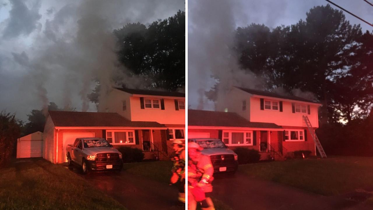 Four displaced after lightning strike ignites Norfolkhome