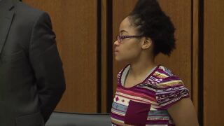 Sierra Day at the trial for the murder of her daughter.