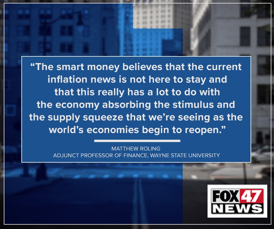 Finance professor Matt Roling's thoughts on where inflation is going next.