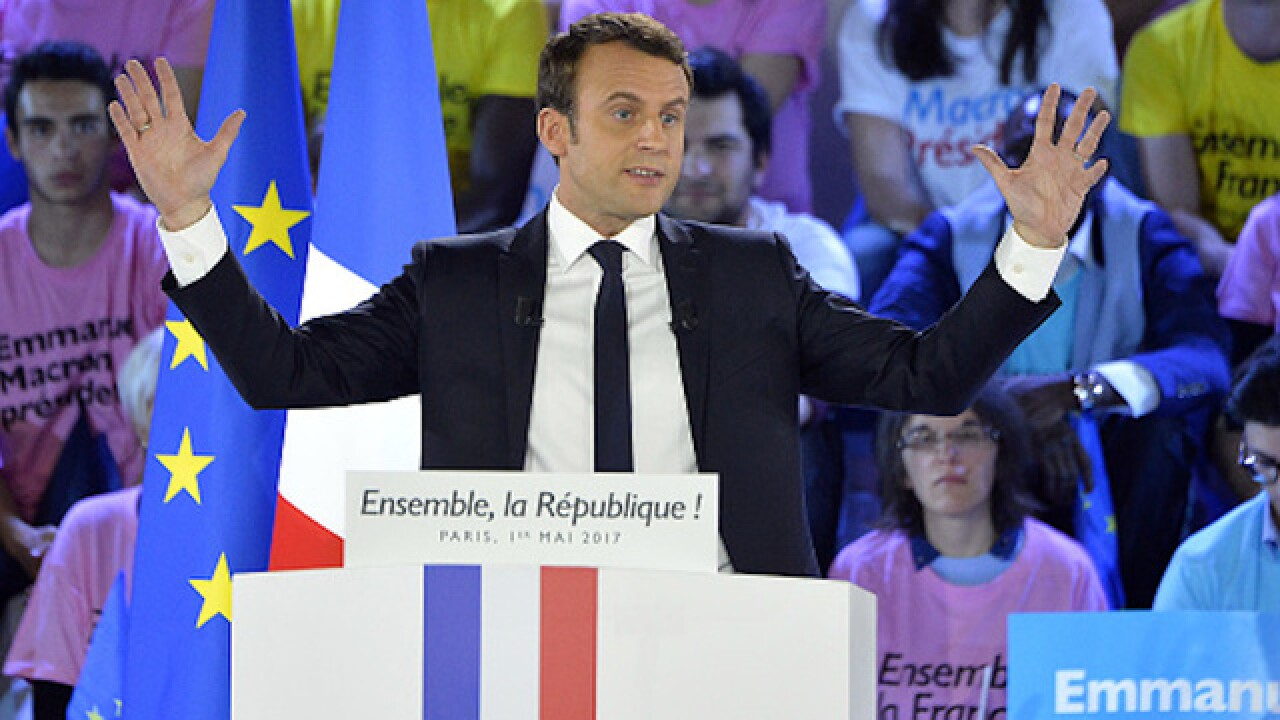 French presidential candidate hacked ahead of Sunday election