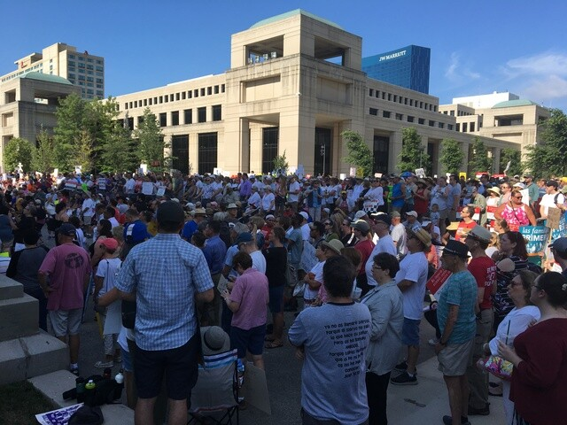 """PHOTOS: """"Families Belong Together"""" rally in Indy"""