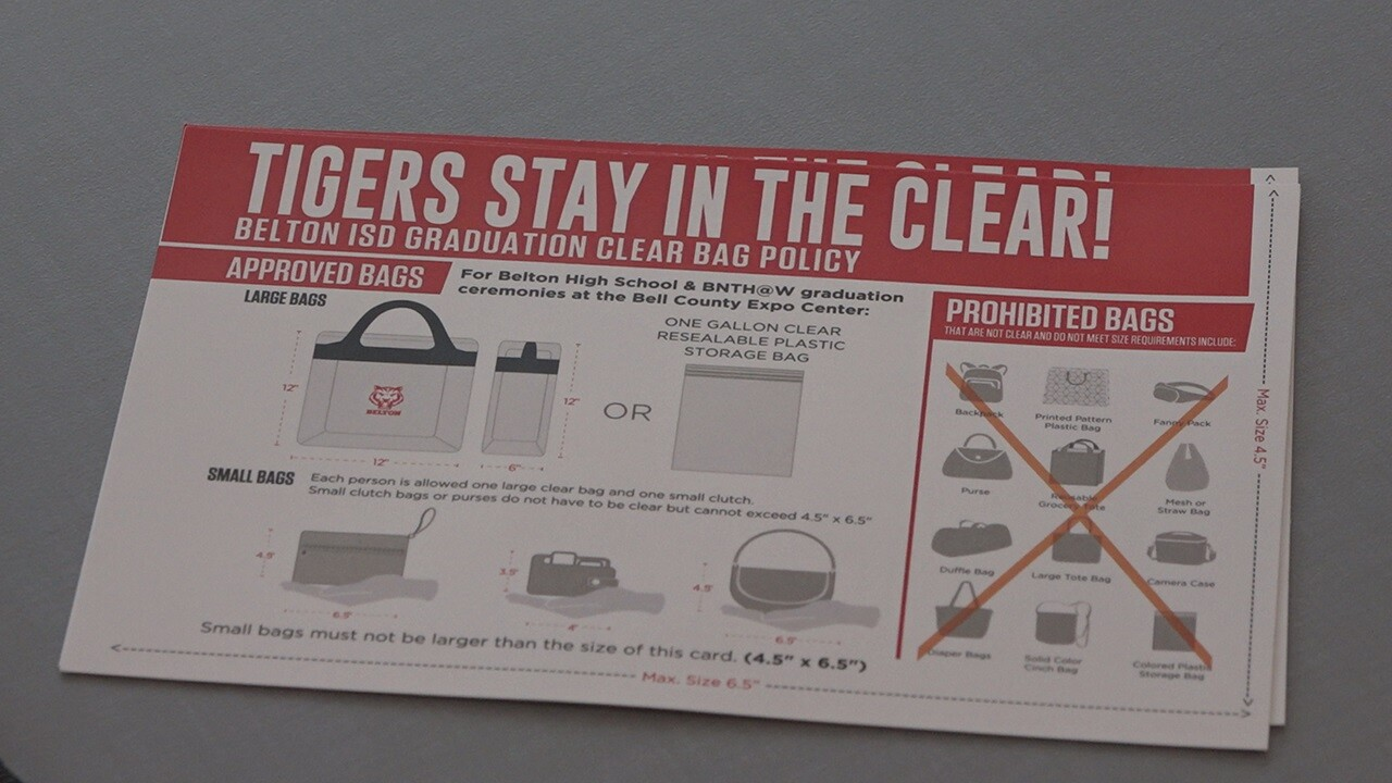 Belton ISD enacts clear bag policy for graduation