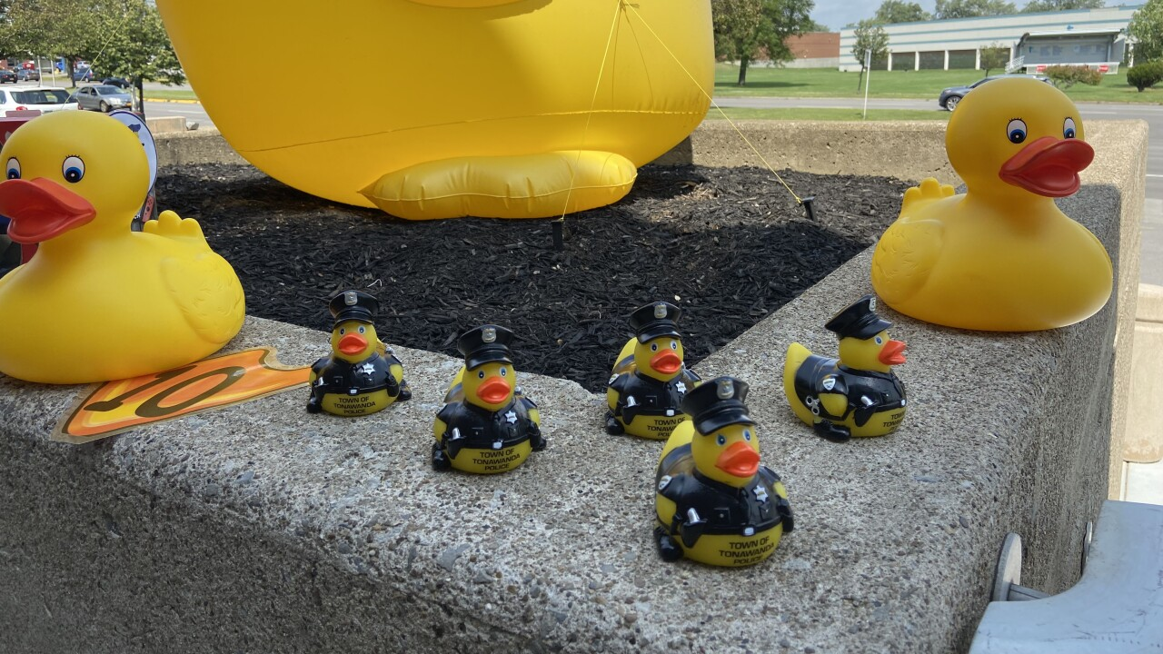 8 local police departments are participating in this year's Lucky Duck Scavenger Hunt