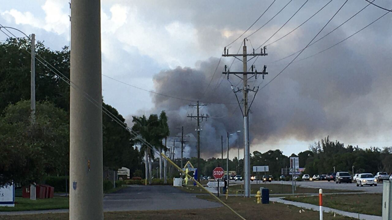 8 acre fire in North Fort Myers