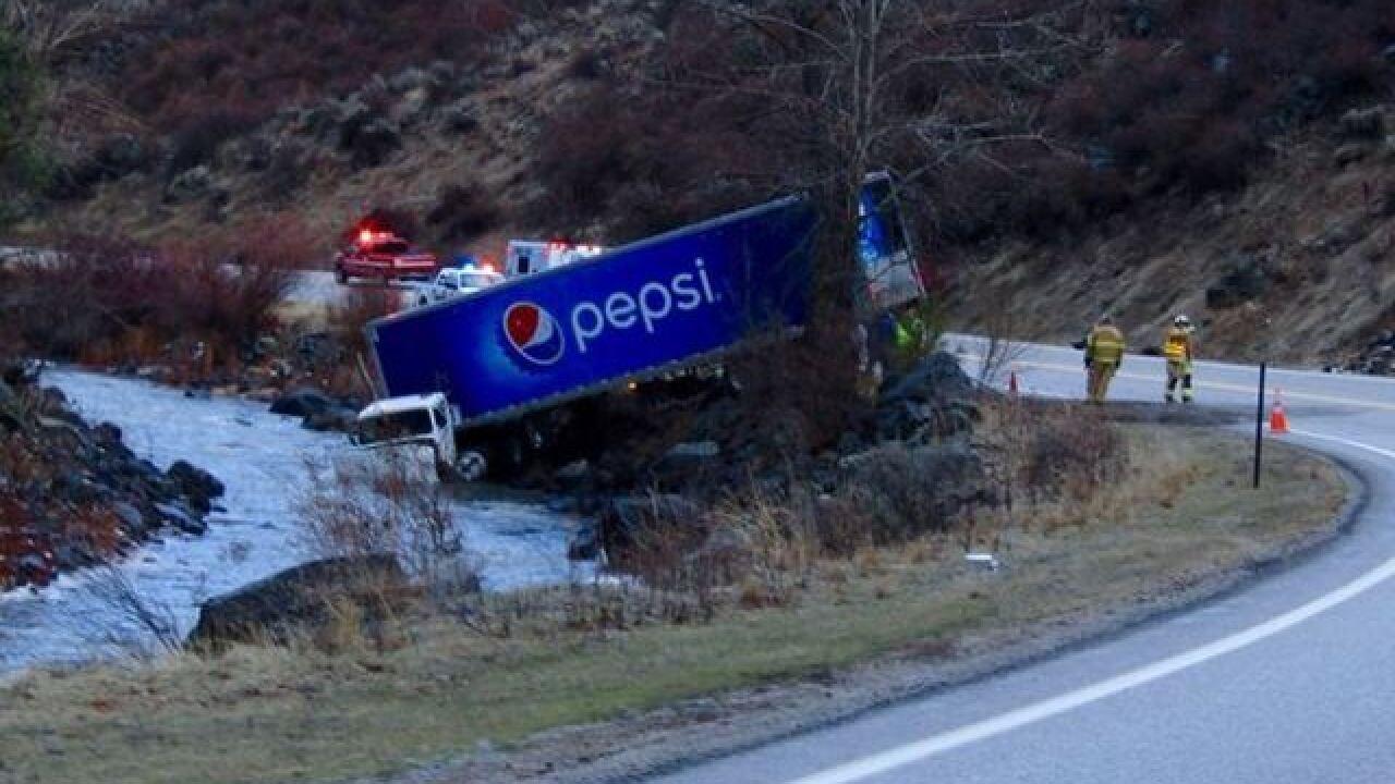 Highway 21 shut down following semi rollover