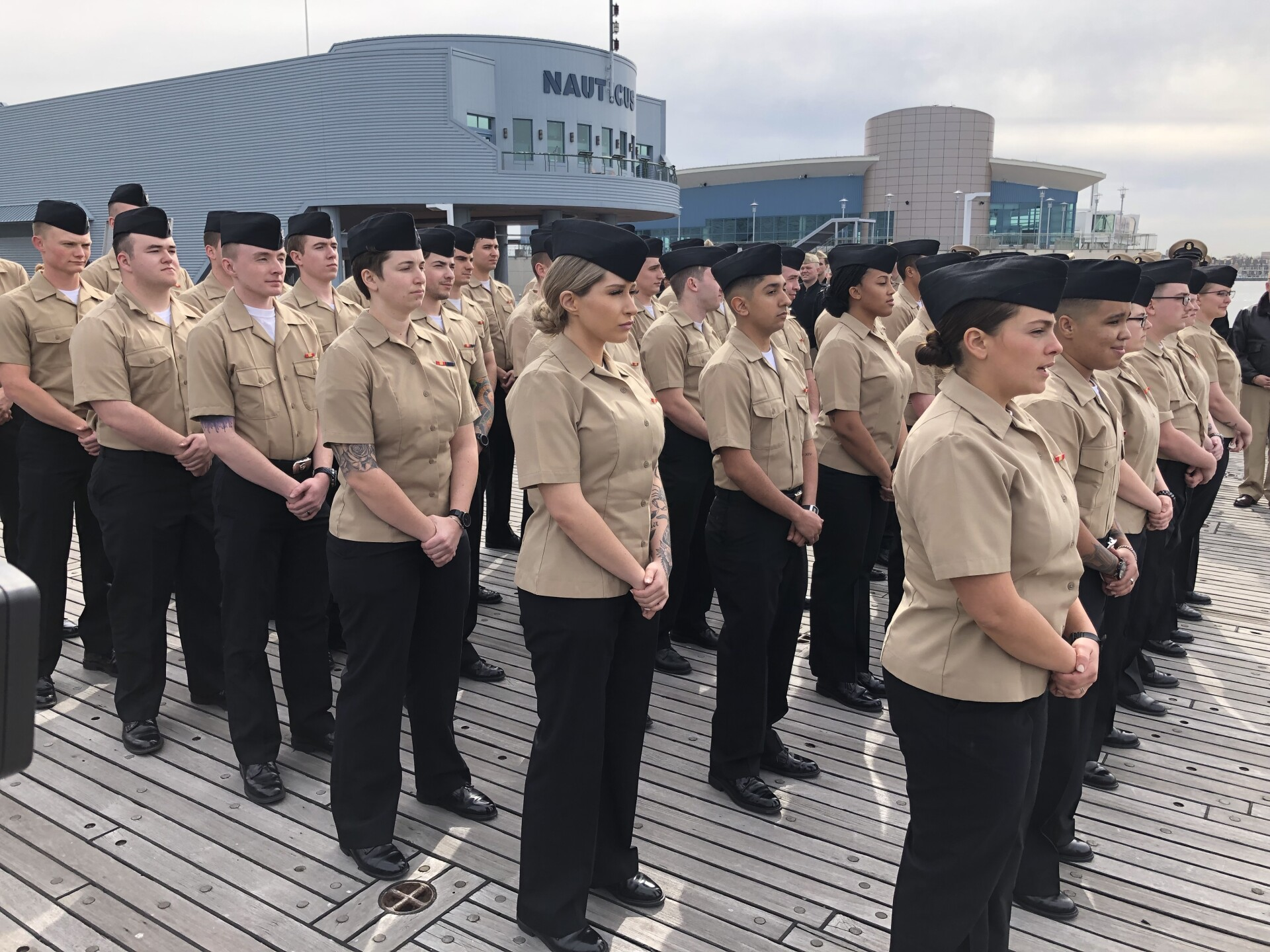 Photos: 39 Sailors re-enlist in Norfolk for a combined 232years