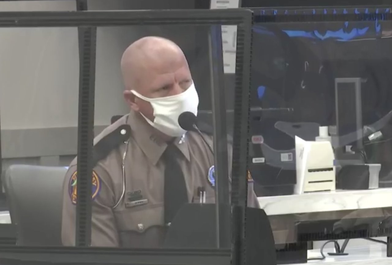 DEFENSE WITNESS 2: Jeffrey O'Pry. He's been with Florida Highway Patrol for 6 years.