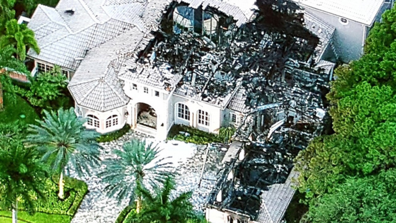large mansion gutted by electrical fire in suburban delray beach
