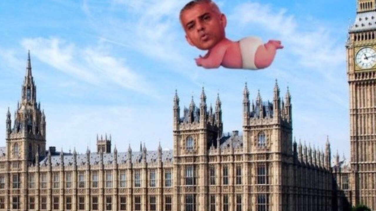 Bikini-clad blimp of London Mayor Sadiq Khan to fly over UK capital