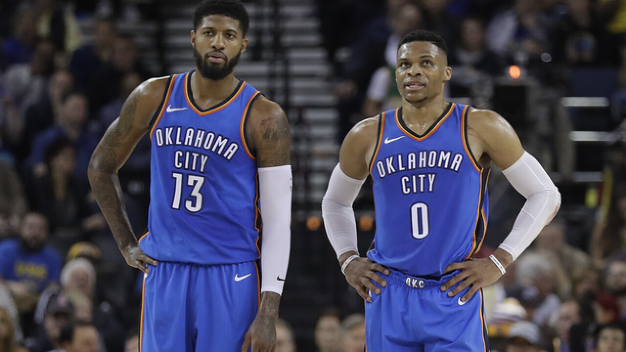 Russell Westbrook, Paul George named to All-NBA teams