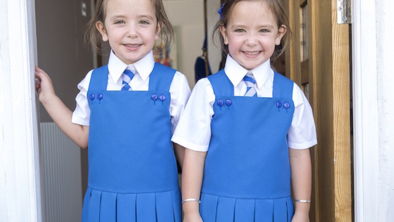 Medical miracle: Formerly conjoined twins are ready for their first day of school