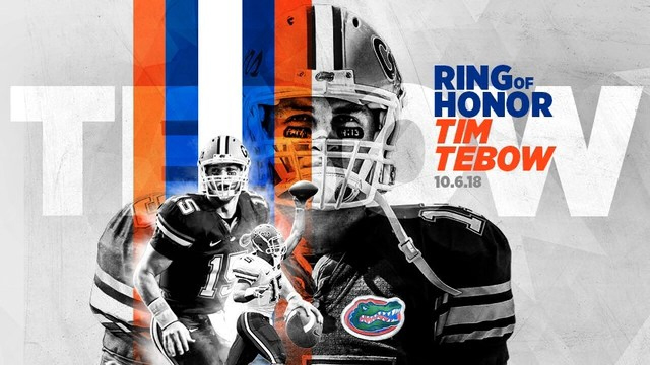 Tim Tebow to be inducted into UF Ring of Honor