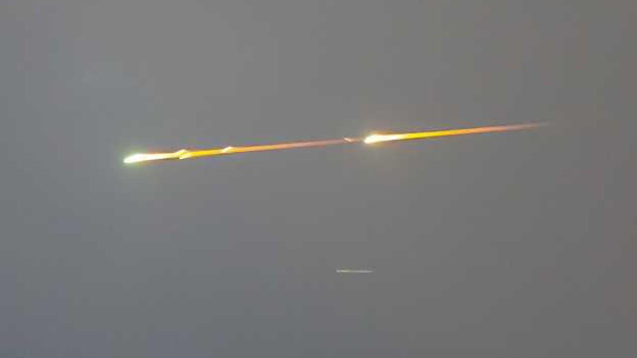 Sightings reported of fireball in MO night sky