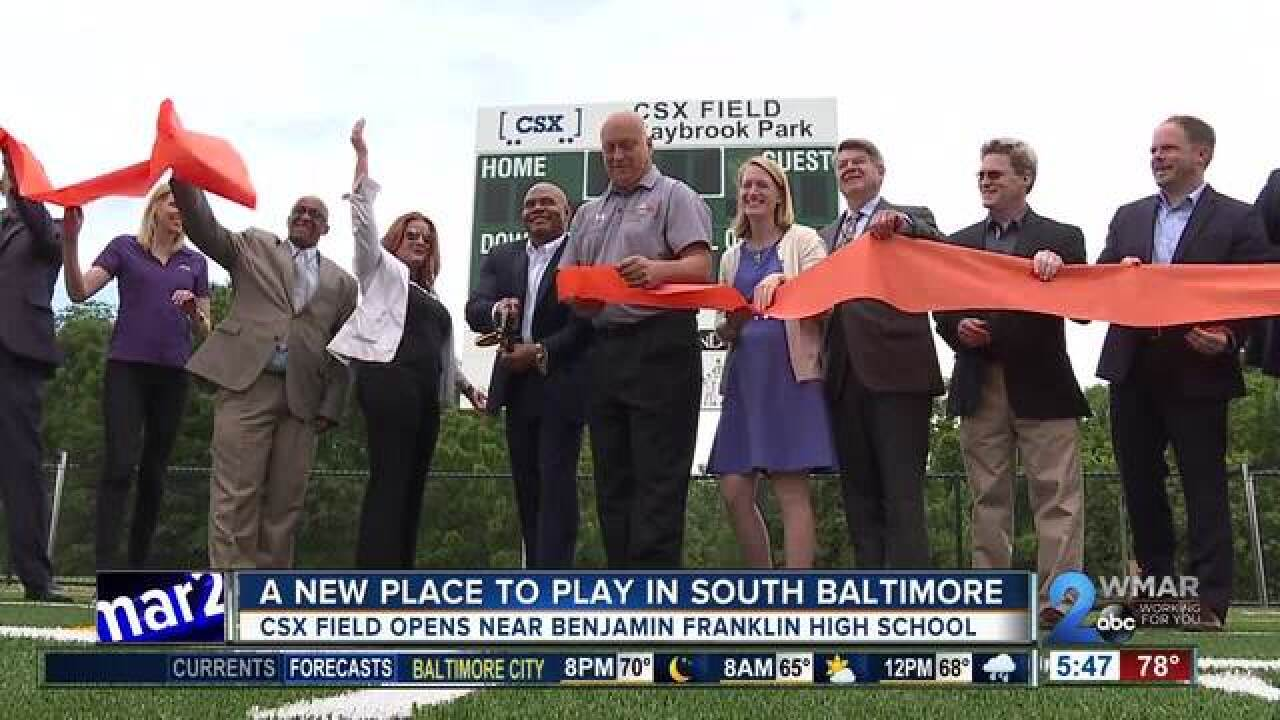 New CSX Field opens in South Baltimore
