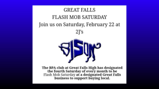 Great Falls Flash Mob Saturday