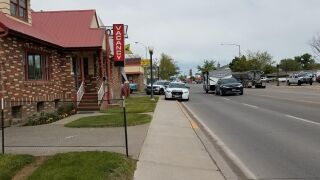 Police are at the scene of a stabbing at or near the Central Motel on the 700 block of Central Avenue West.
