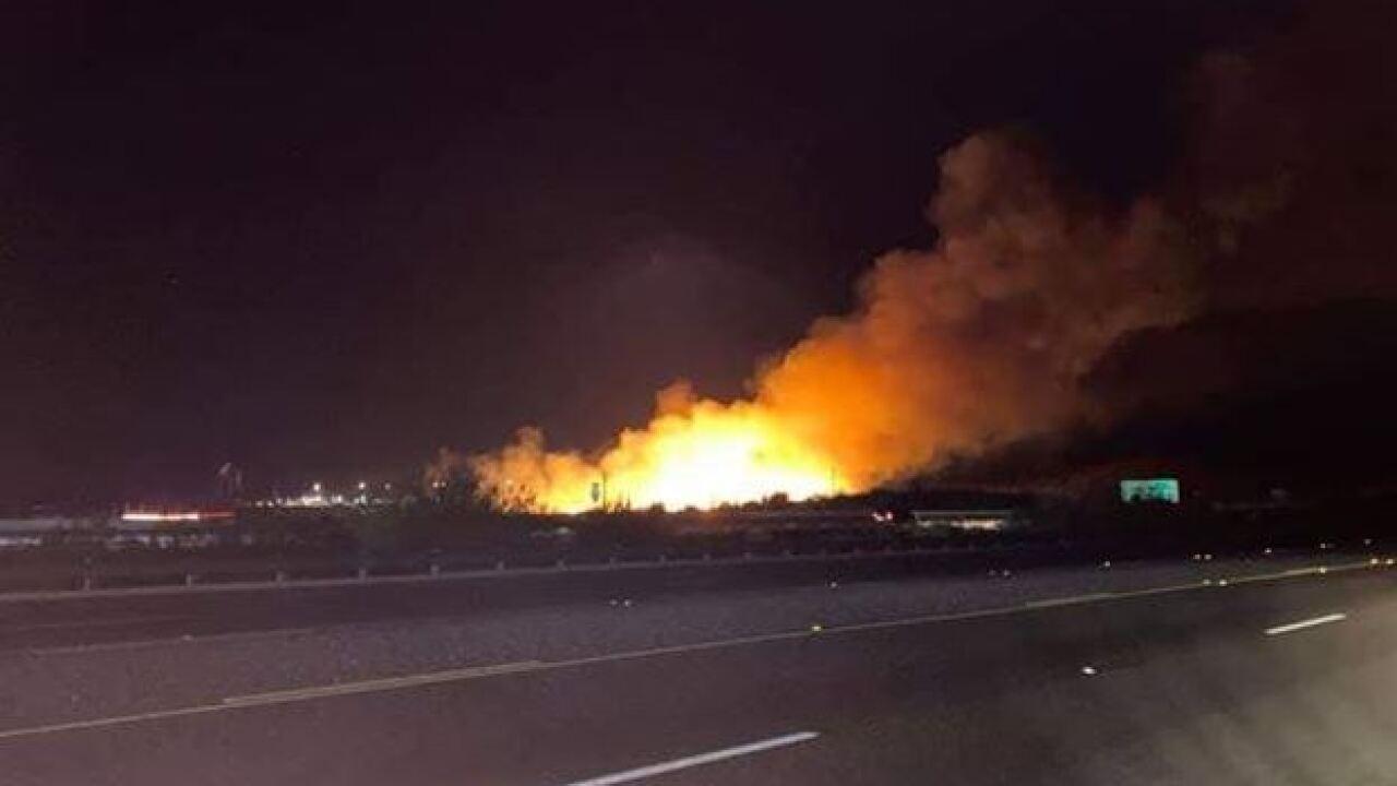 I-17 brush fire