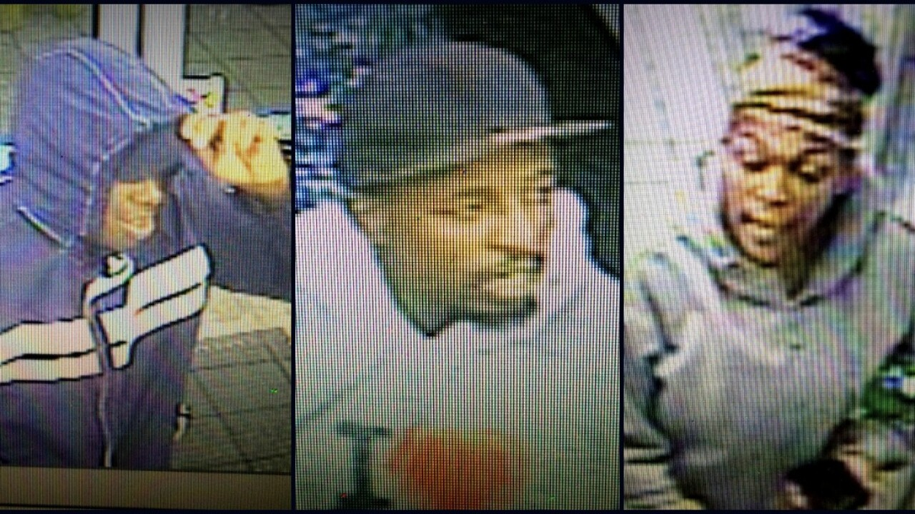 Surveillance photos capture suspects wanted for convenience storerobbery
