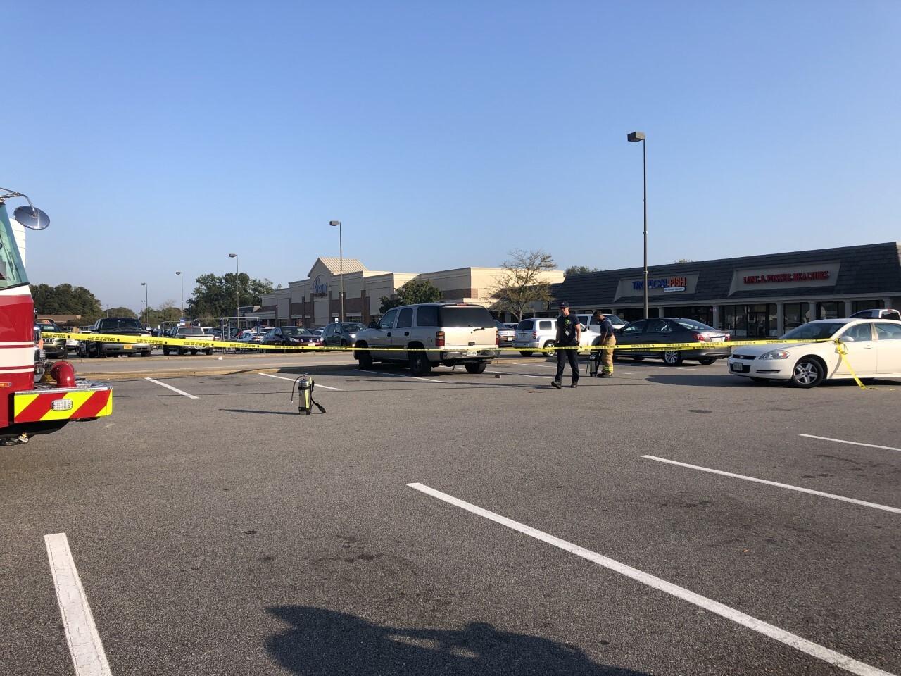 Photos: Person found dead inside vehicle at Virginia Beach shopping center; investigationunderway