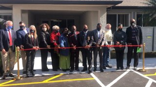 Ribbon-cutting ceremony at the Lake Village at the Glades in Pahokee on Feb. 4, 2021