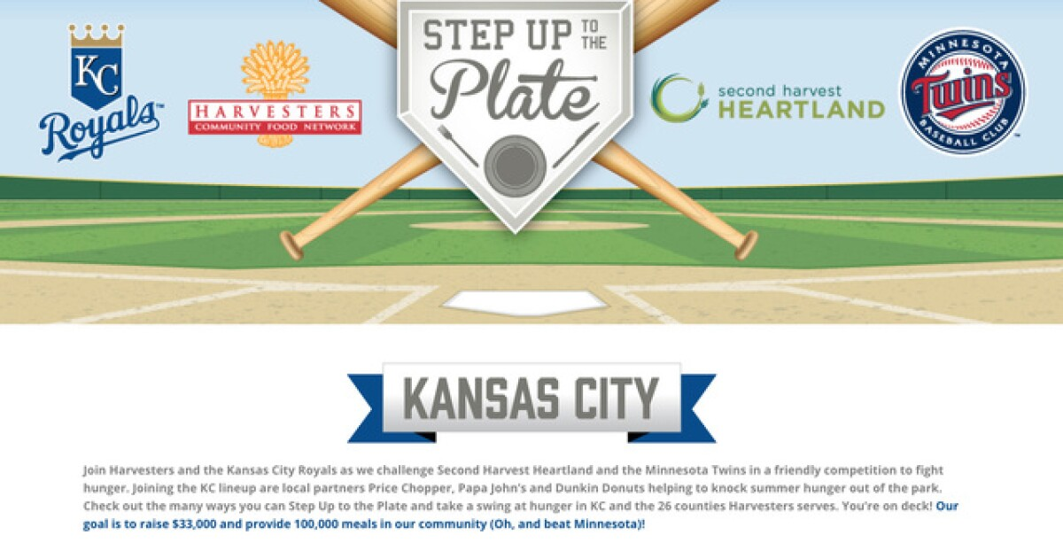 Harvesters, Royals take on Minneapolis, Twins in friendly competition to fight hunger-Harvesters and the Royals have teamed up to fight hunger in KC -- oh, and to try to beat Minneapolis and the Twins, too.-www.kshb.com