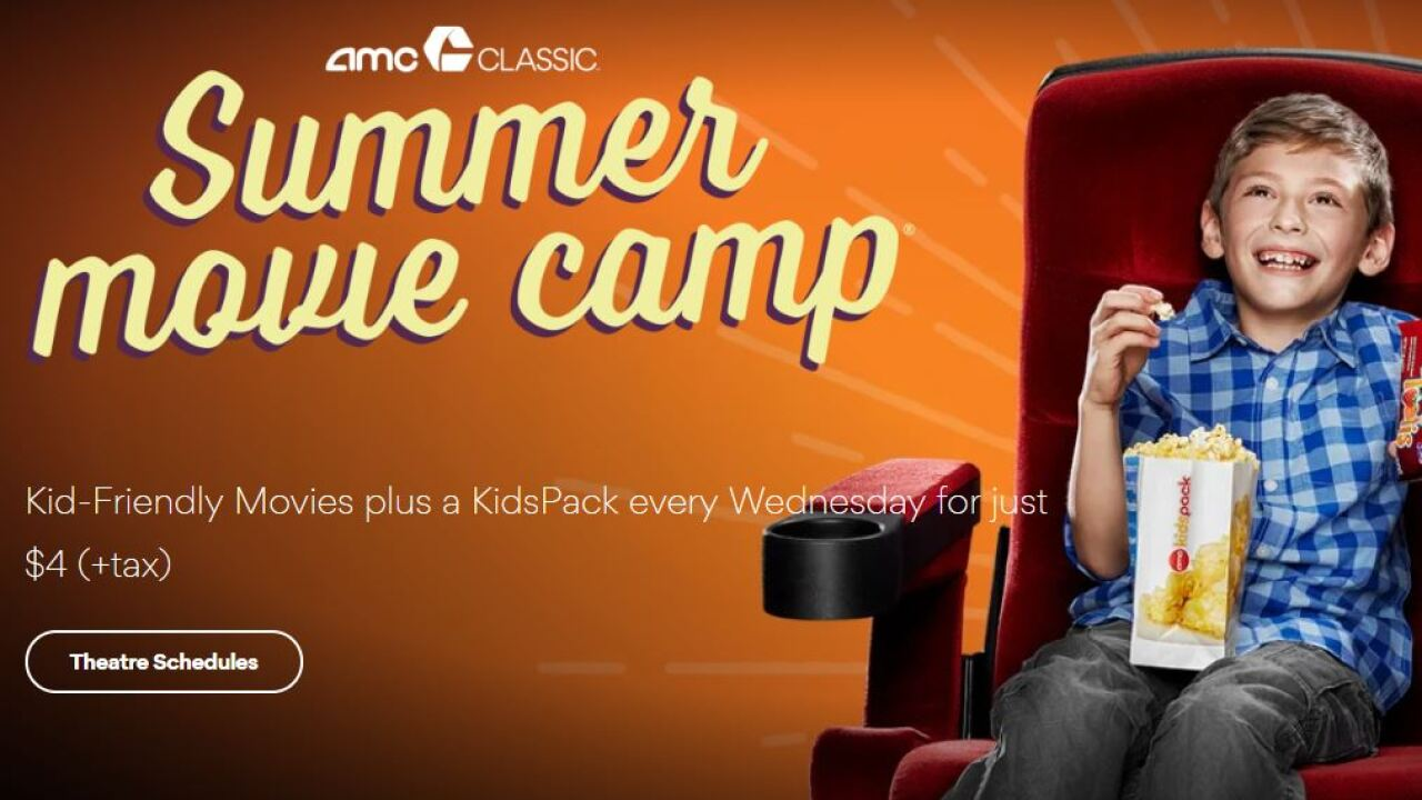 AMC offers $4 deals for kids every Wednesday this summer