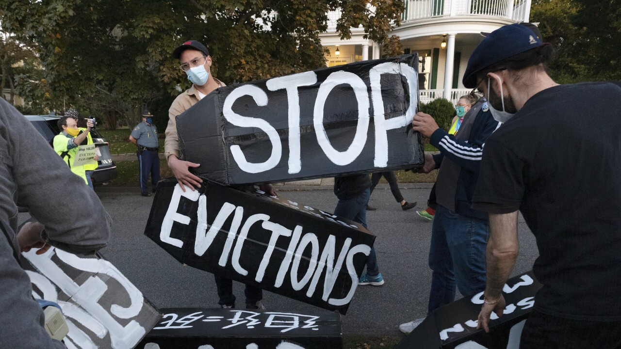 A federal freeze on most evictions enacted last year is scheduled to expire Saturday, after the Biden administration extended the original date by a month. AP photo.