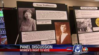 19th Amendment exhibit at the Nueces County Courthouse
