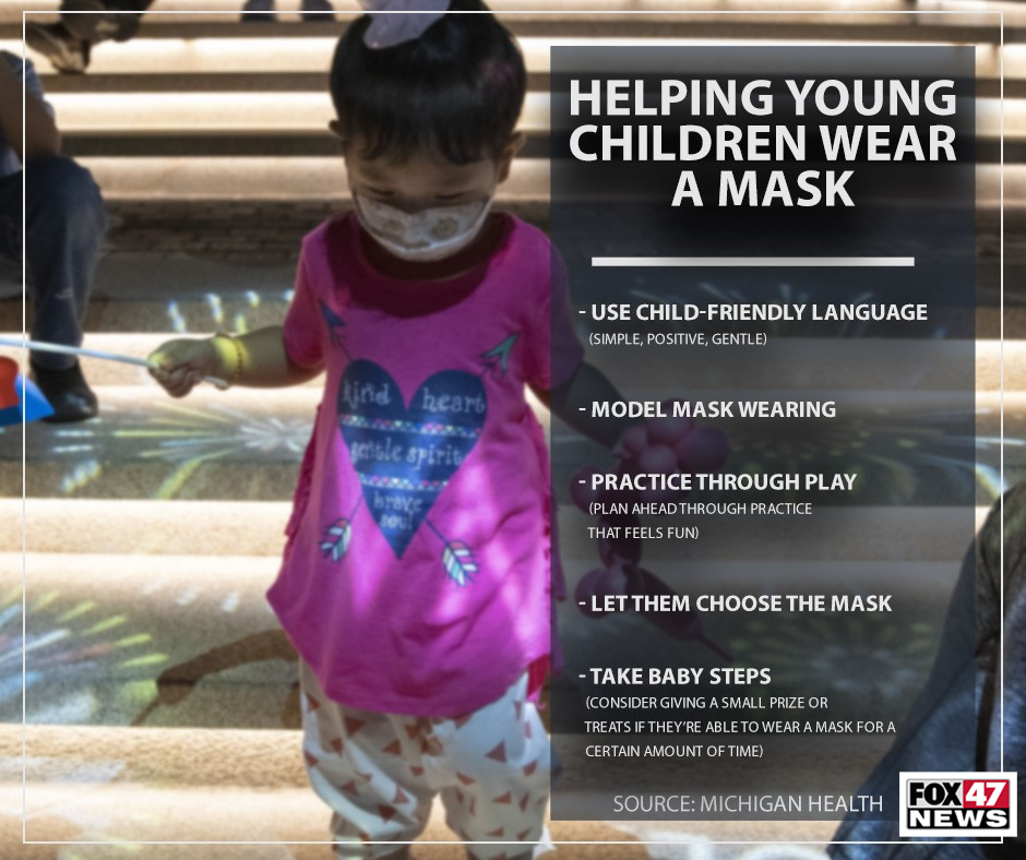 Tips to help your child wear a mask
