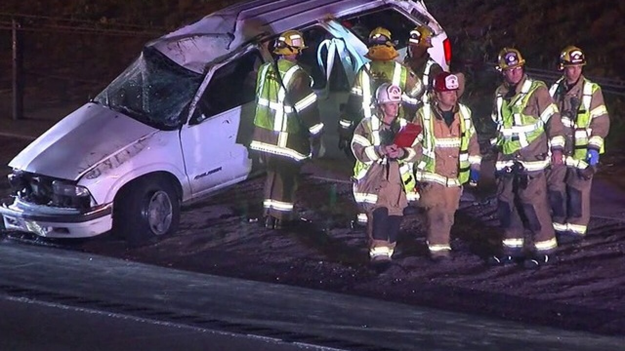 Teen killed, 3 hurt in Vista rollover wreck
