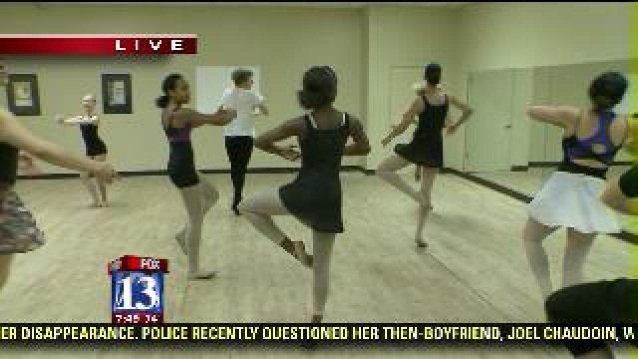 Students display classical ballet skills