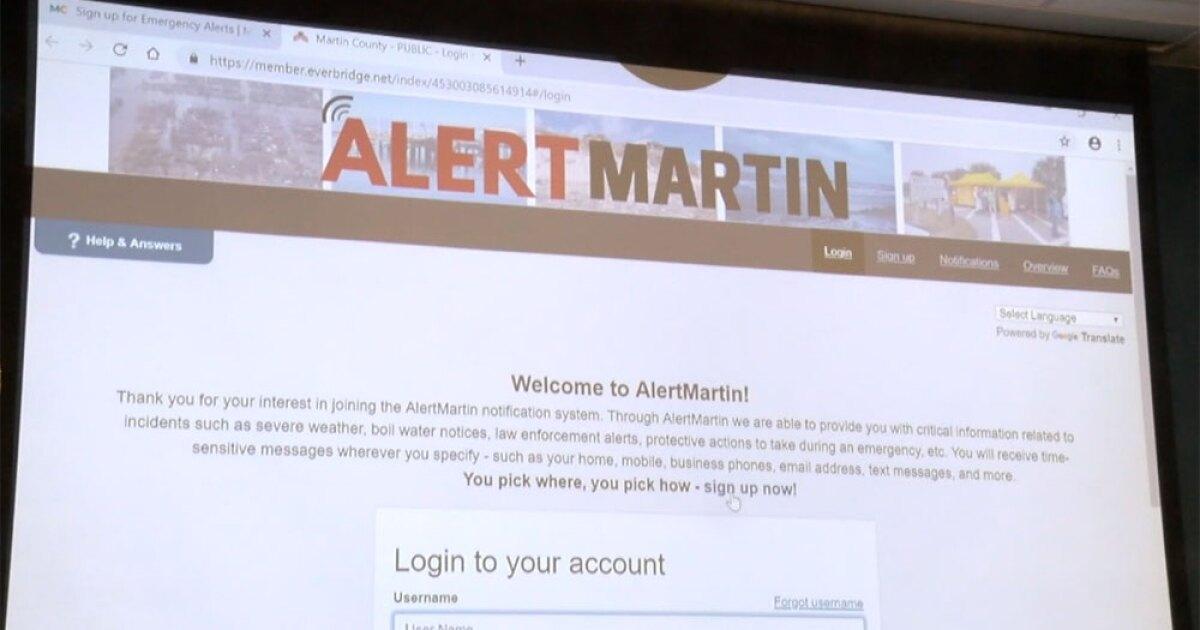 Martin County updating emergency alert system