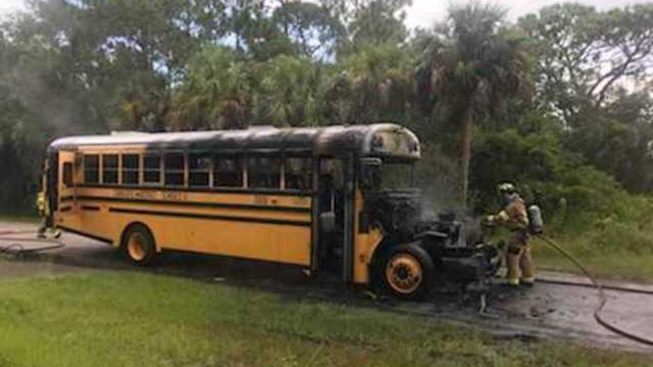 Passengers escape bus fire without injuries