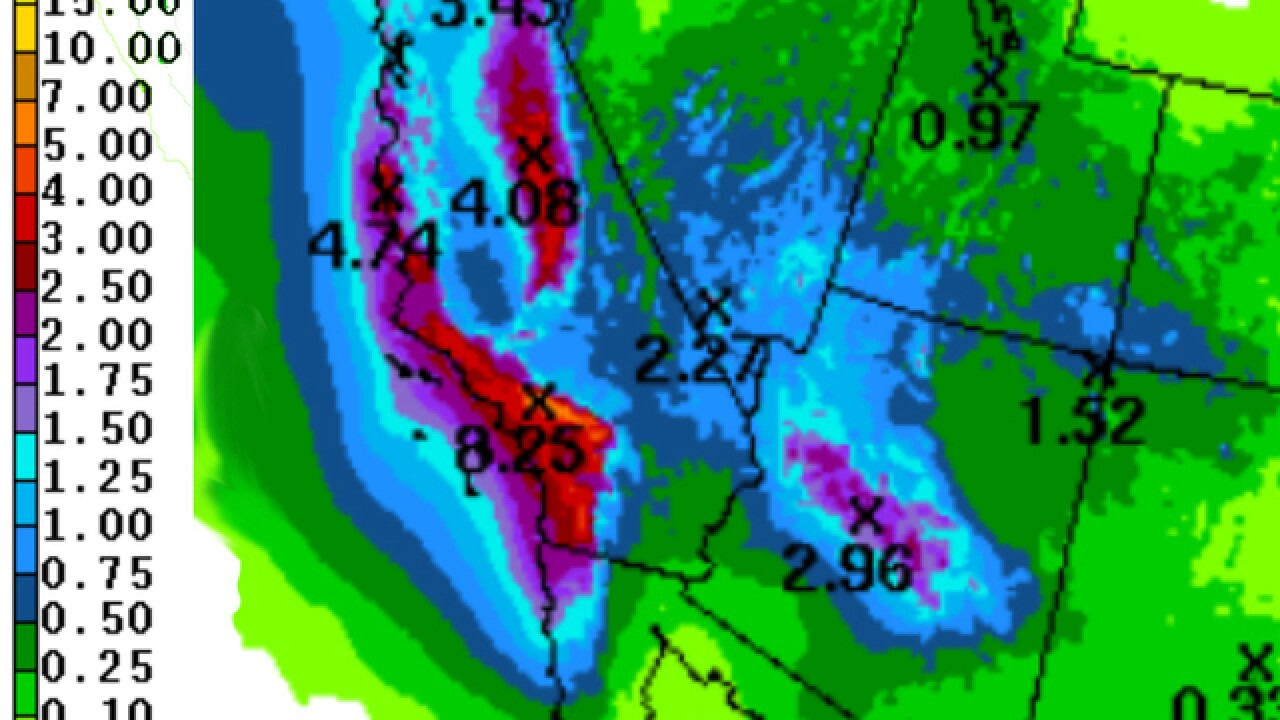 Western states get heavy rain, thanks to El Nio