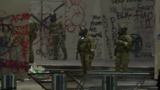 Federal officers again tear-gas protesters in Portland, Oregon