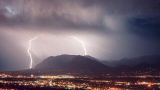Cheyenne Mountain lightning storm