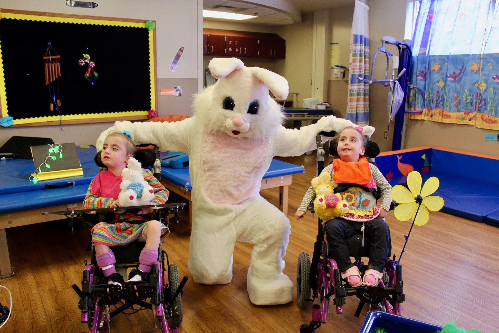 Photos: Norfolk Sheriff's Office brings the Easter Bunny to hospitalizedchildren