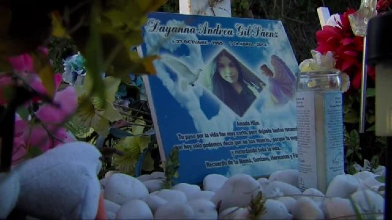 Dayanna Gil: Angel stolen from teen's roadside memorial, neighbors help replace it for family