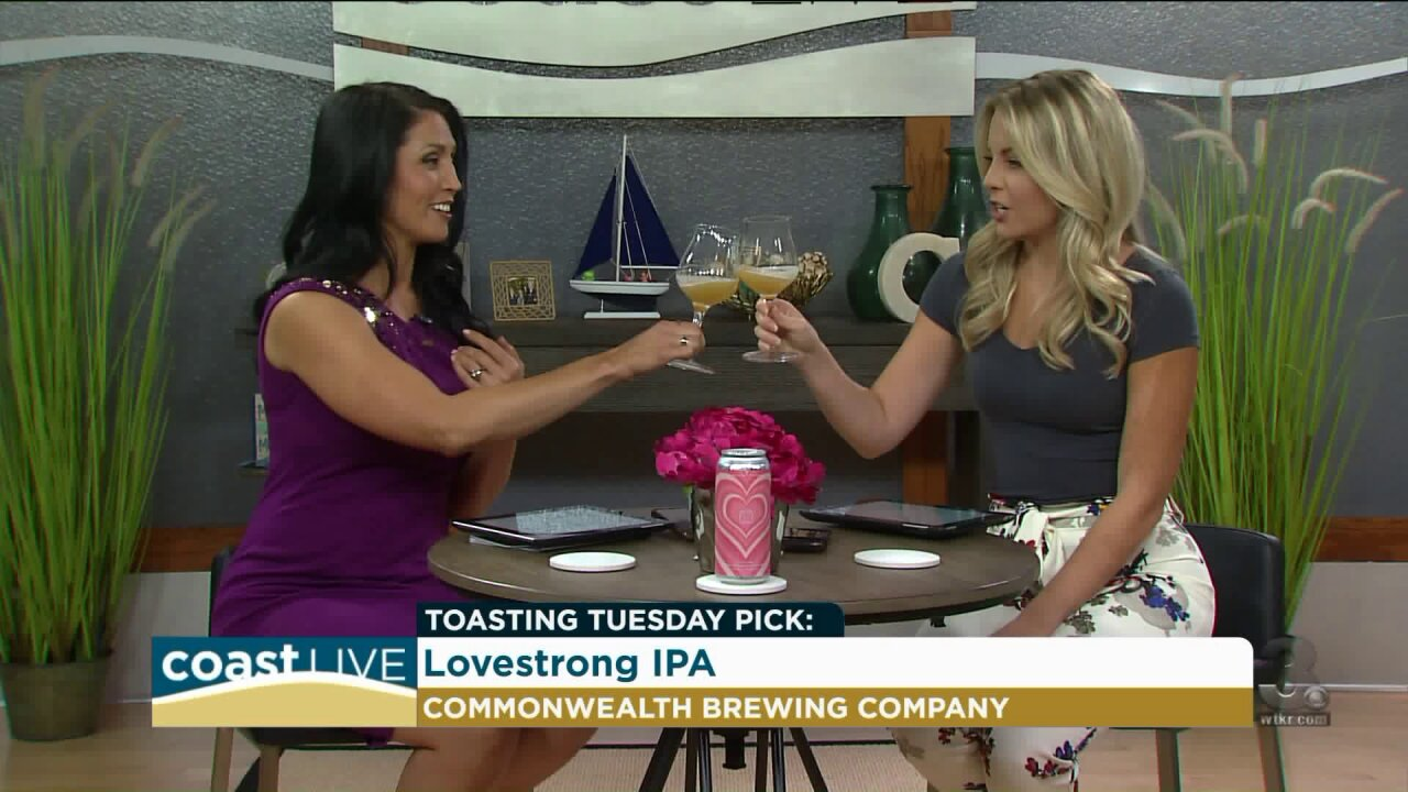 Toasting Tuesday with LoveStrong IPA on Coast Live