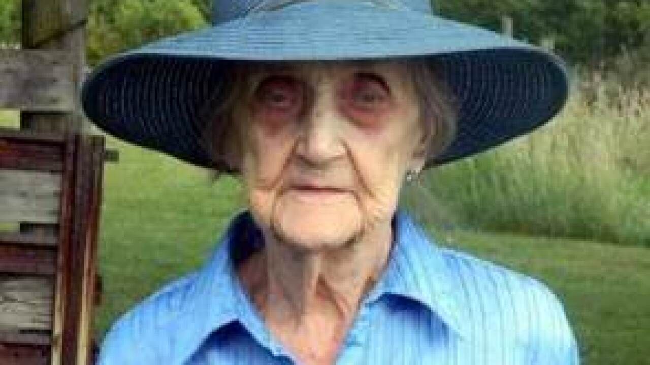 Missing 97-year-old woman found alive in dry creek bed