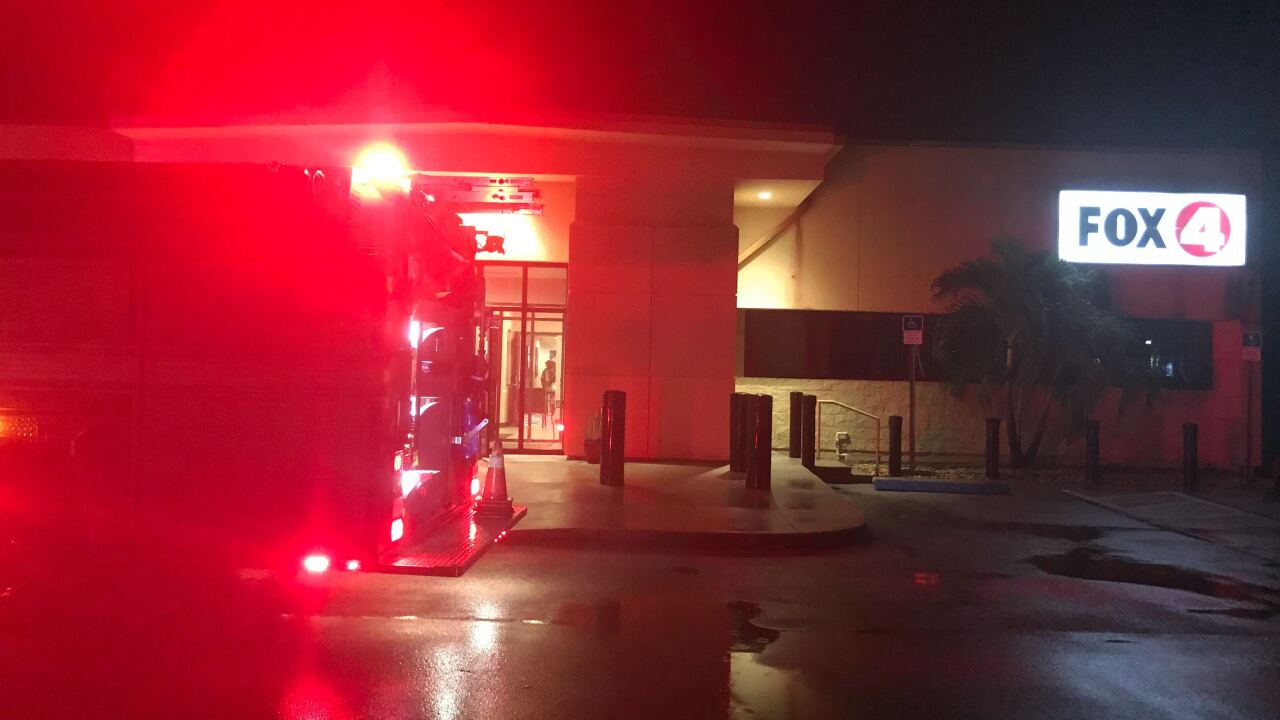 Studio evacuated following electrical fire