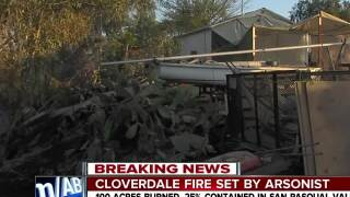 Cloverdale fire set by arsonist