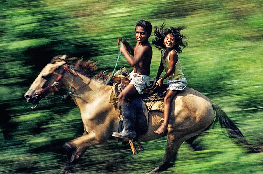 2003 Feature, Journey of Hope (Children on a Horse)