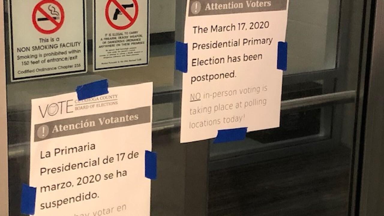 2020 Primary election has been postponed.