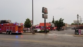 Pit fire reported at Gates Bar-B-Q on Main Street