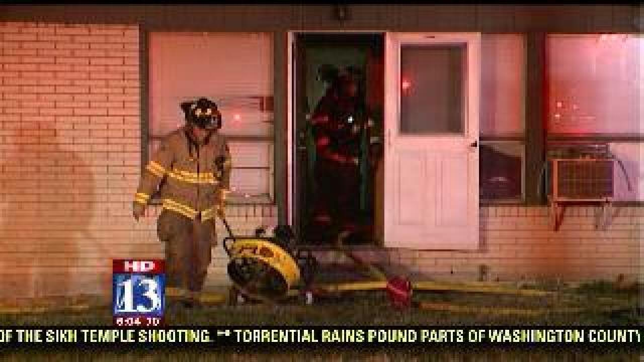 Two families displaced by fire in South Salt Lake