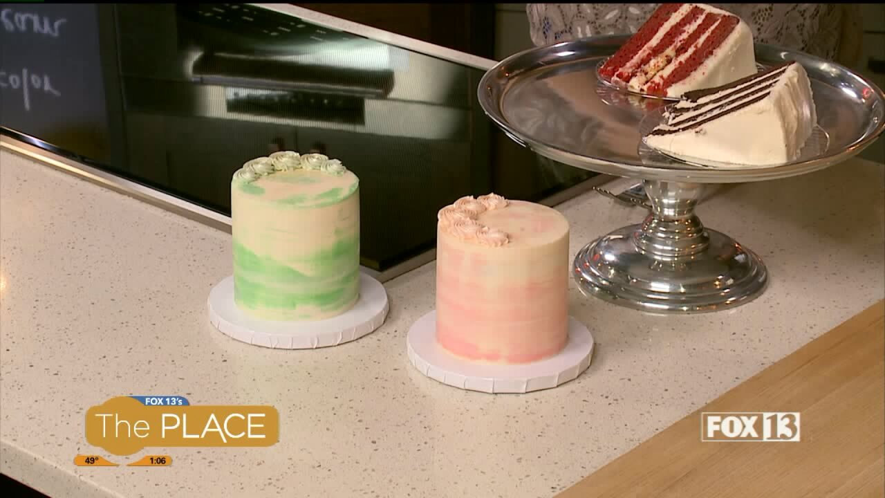 Cake Wars champ Pete Tidwell teaches us how to do a watercolor buttercreamdesign