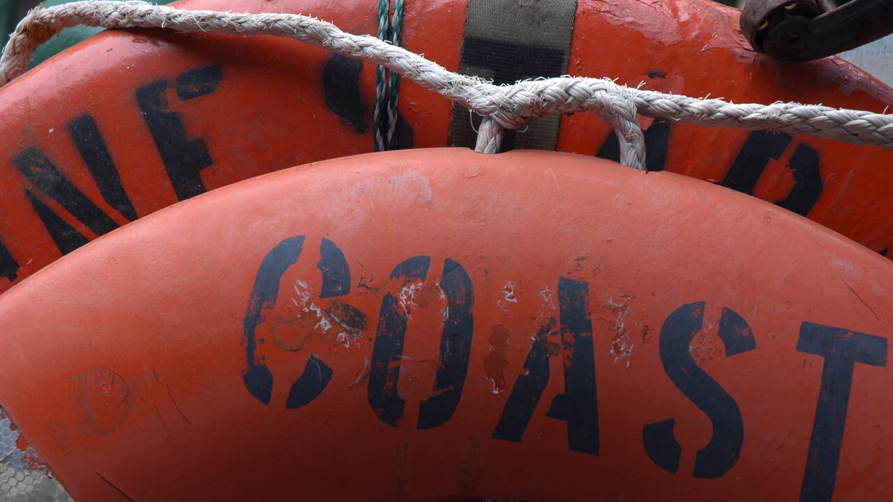 Kayaker rescued by Coast Guard on Thanksgiving after boat capsizes