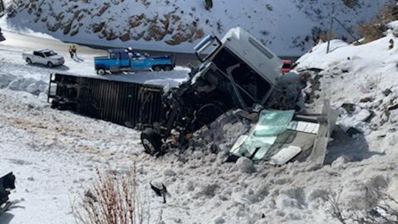 Utah deputy hit, seriously injured by semi while responding to earlier crash on Highway 30