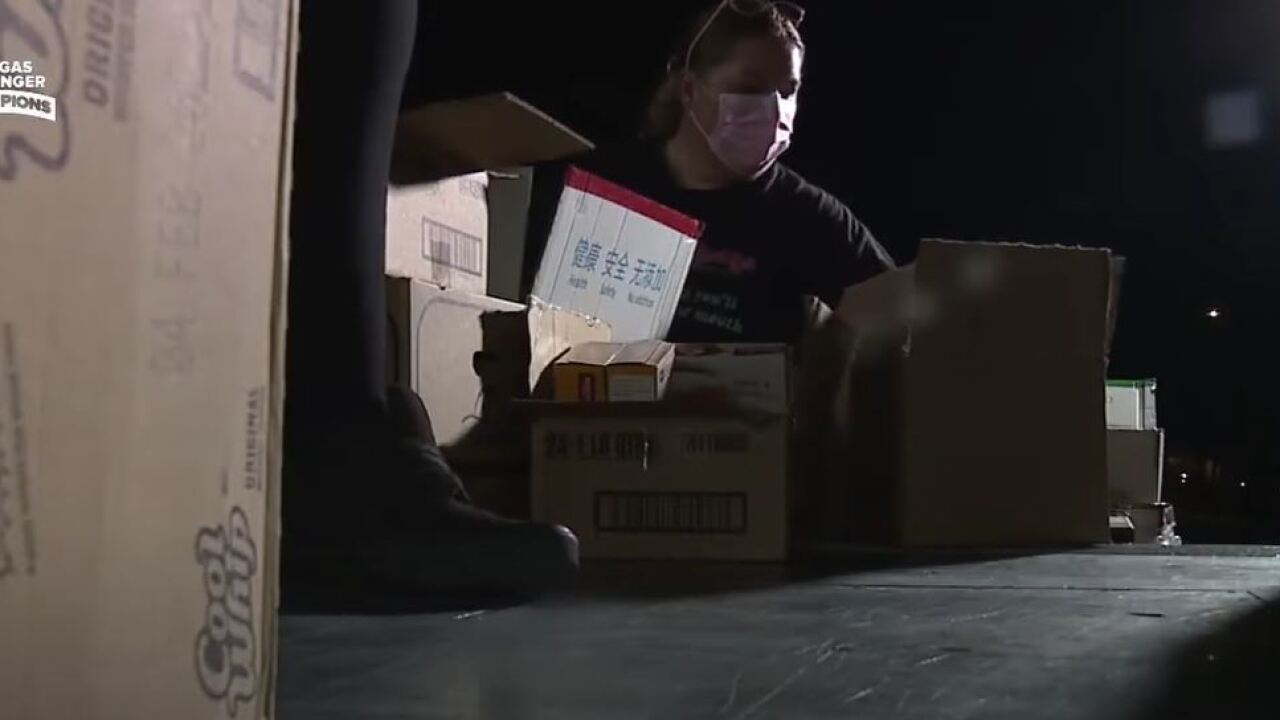 Julie and Jim Danner have been helping families in need across the Las Vegas valley since the pandemic was officially declared in 2020